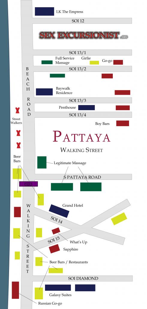 map of Pattaya Walking Street