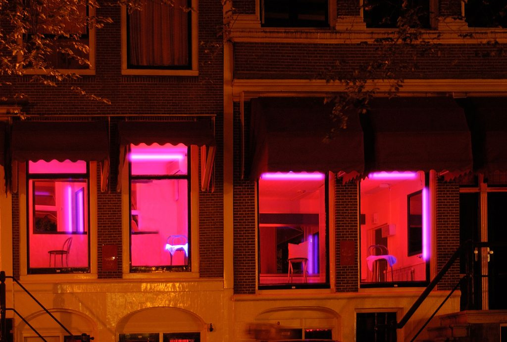 Red Windows in Amsterdam's red light district